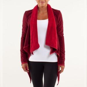 Lululemon Presence of Mind Wrap Jacket Cranberry